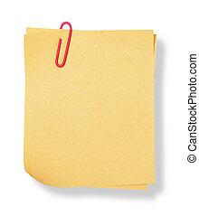 nota adhesiva