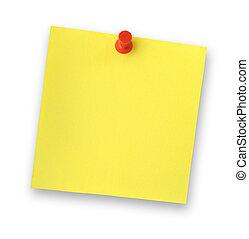 nota, adhesivo