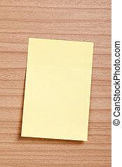nota amarilla, papel