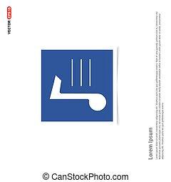 nota, azul, -, música, ícone, quadro, foto
