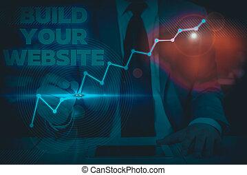 nota, business., ecommerce, showing, website., dílo, povolání, systém, obchod, up, showcasing, fotografie, stavět, tvůj, sázení