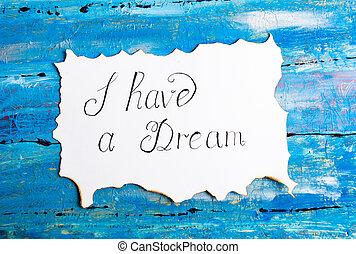 nota, calligrafia, sogno, possedere