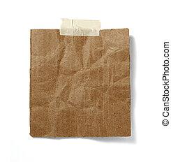 nota, carta da pacchi, vecchio, fondo