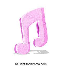 nota, cartone animato, musicale