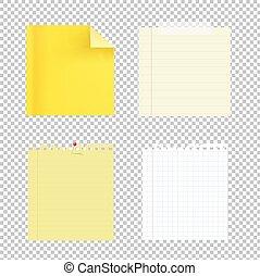 nota, colección, papeles
