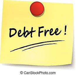 nota, deuda, libre