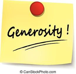 nota, generosità, giallo