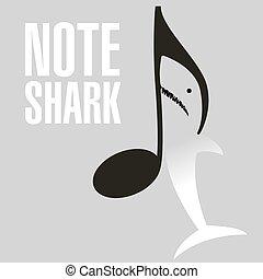 nota, gran squalo bianco