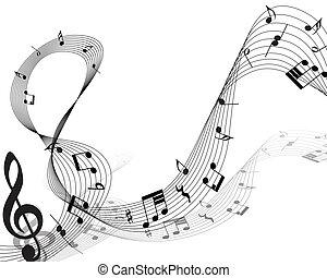 nota, hudební personál