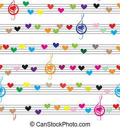 nota, música de sonido, textura