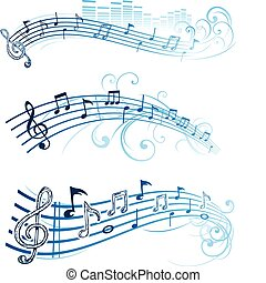 nota, música, diseño