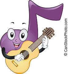 nota música, mascota
