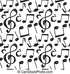 nota, modello, musica