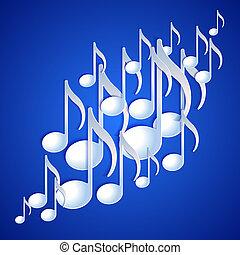 nota musica, fondo, design.