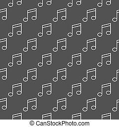 nota musica, scuro, modello