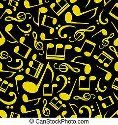nota, padrão, música, eps10