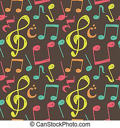 nota, padrão, musical