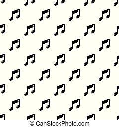 nota, padrão, vetorial, música, seamless