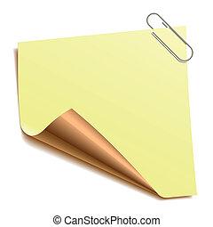 nota, papel-grampo
