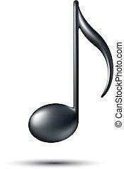 nota, signo., música