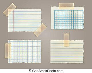 nota, stuc, carte, nastro, appiccicoso