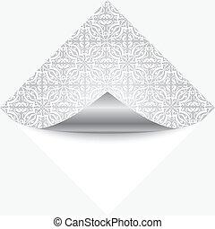 nota, vetorial, prata, ilustração
