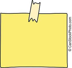 notare carta, disegno