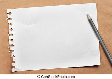 notare carta, pencil.