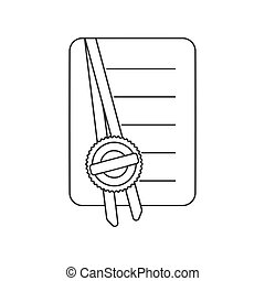 Notarized Document Icon Vector - A notarized document with ...