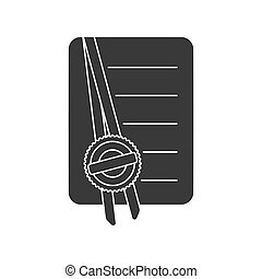 Notarized Document Icon Vector