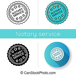 Notary services stamp mark icon. Apostille and legalization...