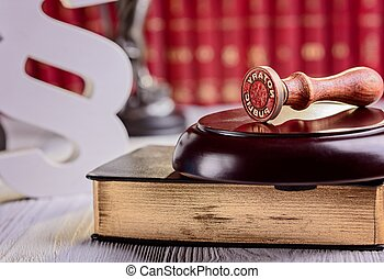 notary, stamper, métal, public
