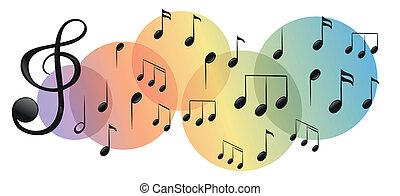 notas, clases, diferente, musical