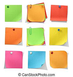 notas, colorido