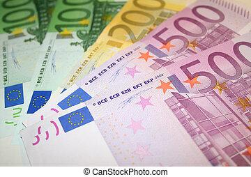 notas, euro