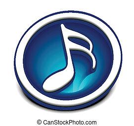 notas, música, ícone