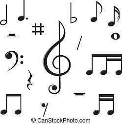 notas música, caos