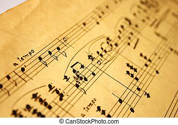 notas, música, clásico