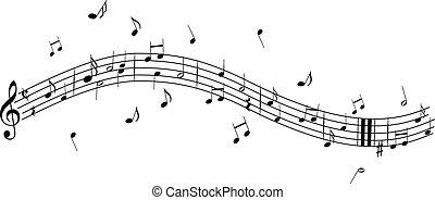 notas música, clef