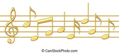 notas música, ligado, aduelas