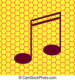notas música, ligado, aduelas, com, abstratos, fundo
