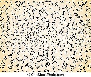 notas, música, seamless