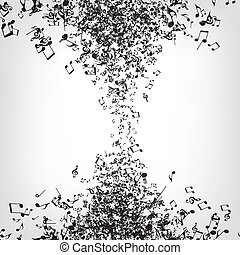 notas, música, textura