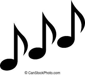 notas, música, triplo