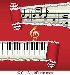 notas, melody-piano-music