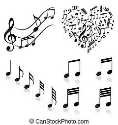 notas, musical