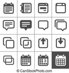 notas, notas, planes, iconos