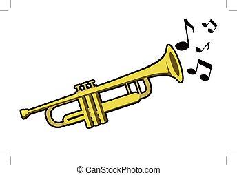 notas, trompete