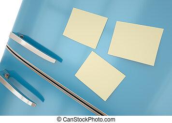notatki, lodówka, lepki