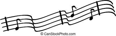 notatki, muzyczny